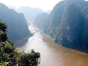 Vista del rio en Tam Coc