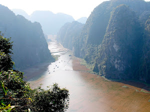 Vista sul fiume Tam Coc