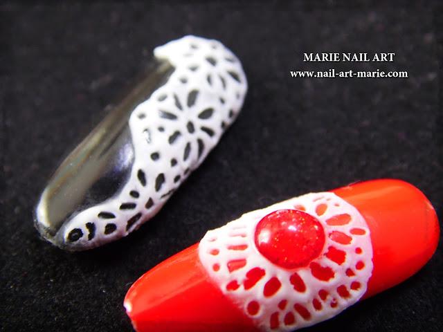 Nail Art Dentelle en Gel 3D5