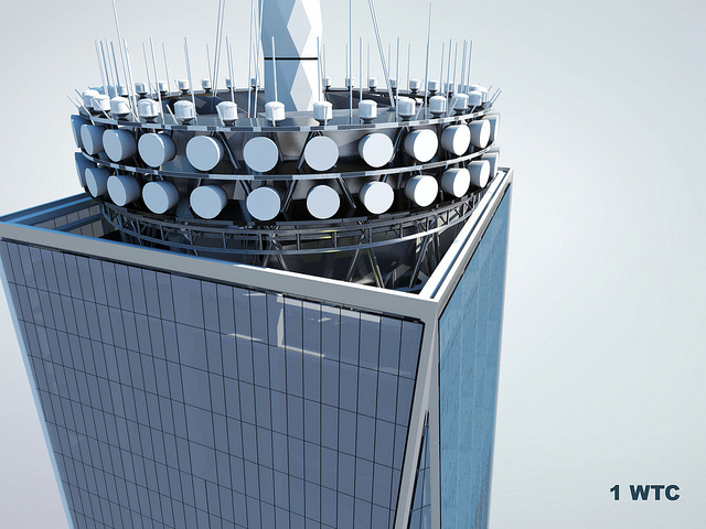 Roof rendering of One World Trade Center by Skidmore, Owings & Merrill LLP (SOM)