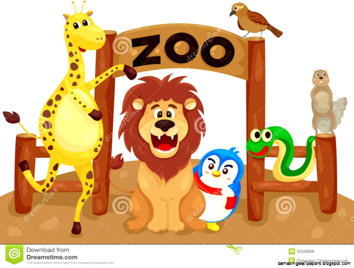 Zoo Animals Together Clipart Zoo Entrance Free Clipart