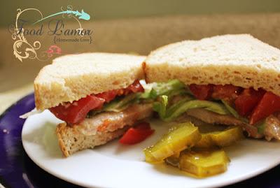 Pork Sandwich with {Homemade} Lemon-Tarragon Mayo