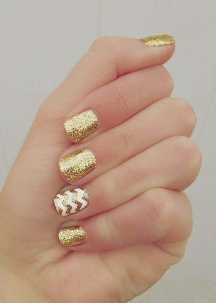 DIY Gold Girl Manicure