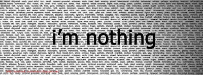 Couverture facebook emo i'm nothing