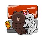 emoticones de parejas sentadas