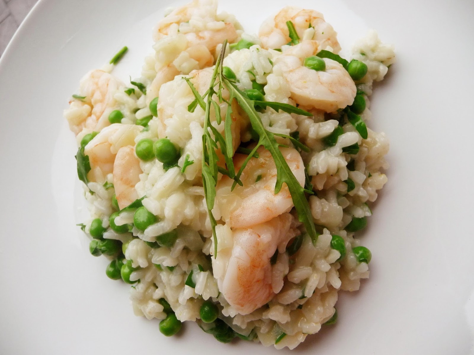 Lancashire food prawn pea and rocket risotto for Spicy prawn risotto