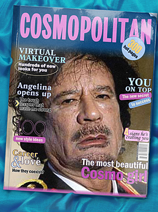 Muammar Gaddafi i Cosmopolitan.