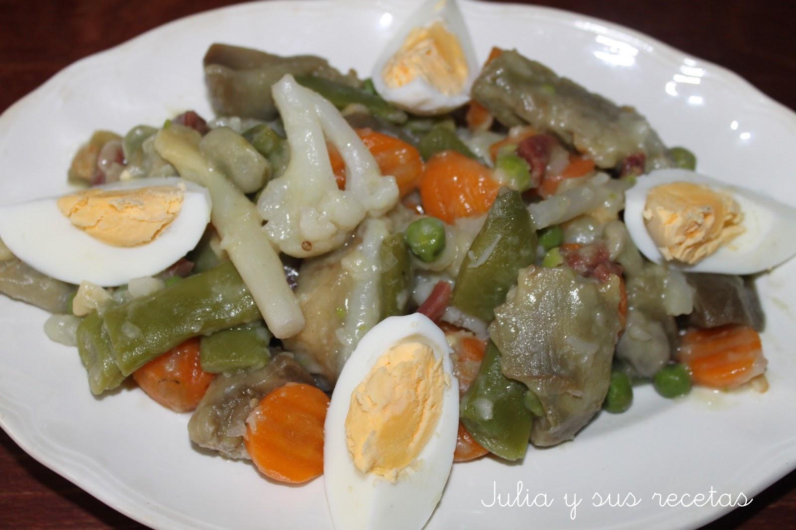 Julia y sus recetas menestra de verduras - Menestra de verduras en texturas ...