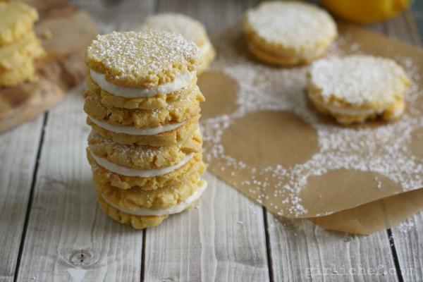 girlichef: Lemon Cornmeal Sandwich Cookies #SundaySupper