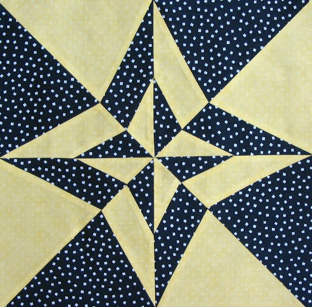 Day night quilt block