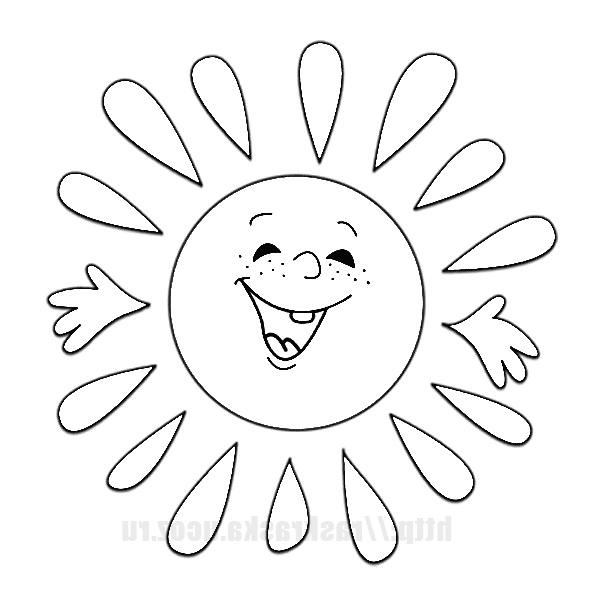 Распечатать раскраски солнышко