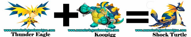 como obtener el monster shock turtle en monster legends formula 3