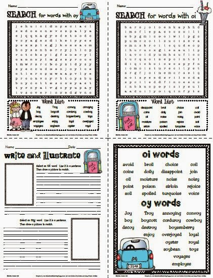 Word Families - aw, oi, oy, au Crocodile Phonics Game