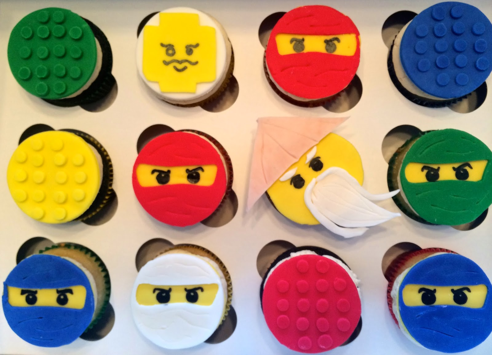 Much Kneaded Lego Ninjago Cupcakes
