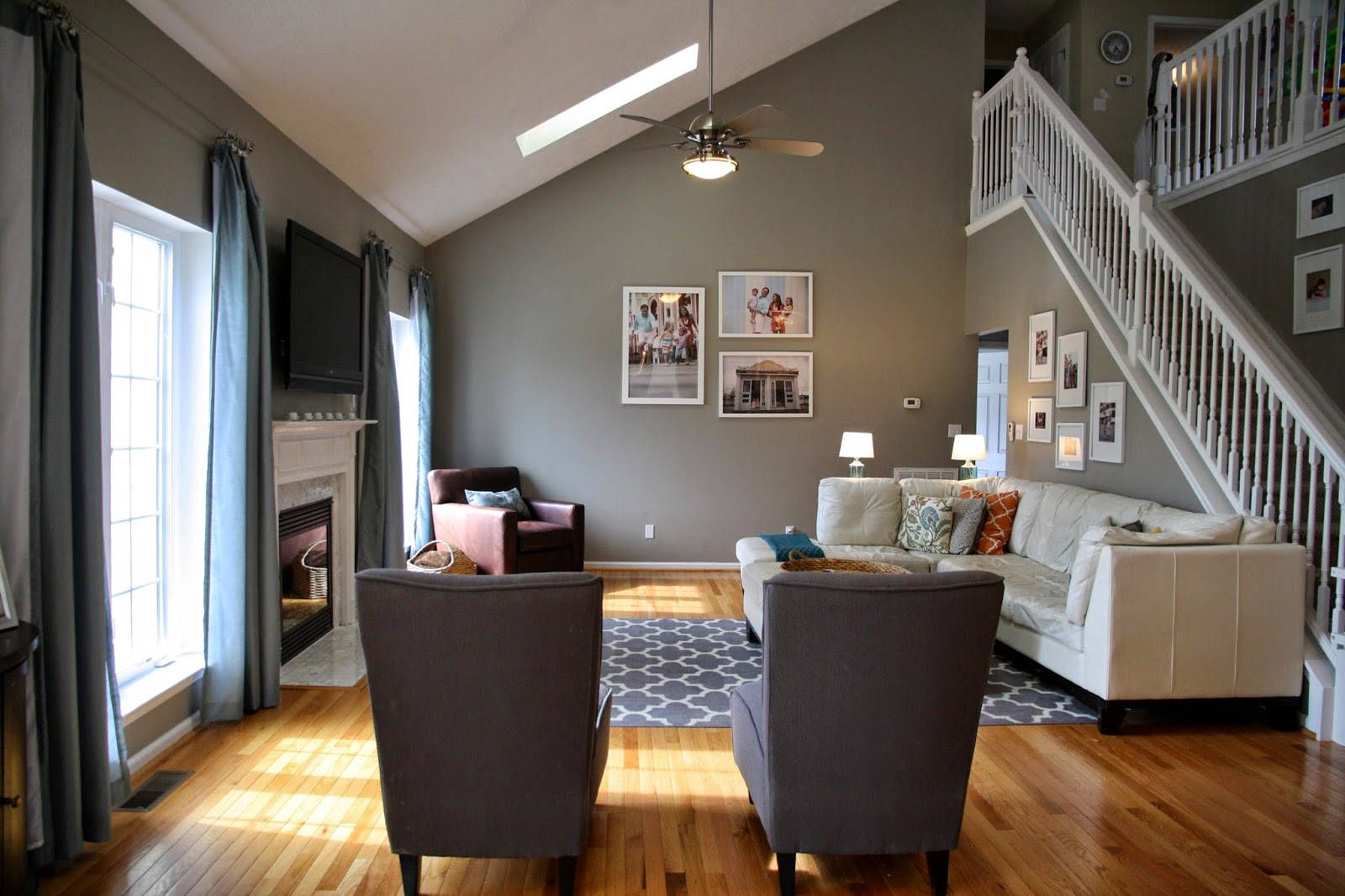 What Kristin Found A Gray Living Room Makeover With Pops Of Color