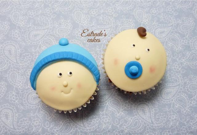 cupcakes para bebe con fondant - 2