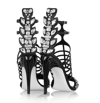 Fendi High Heeled Embellished Strappy High Heels