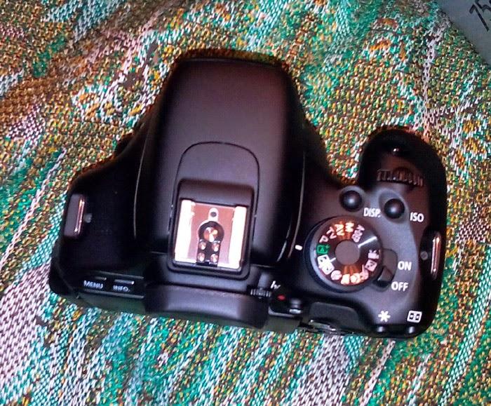 Canon EOS 600D вид сверху