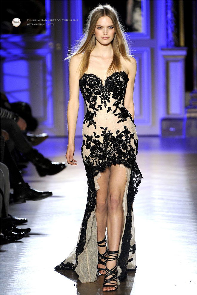Zuhair murad black wedding dresses