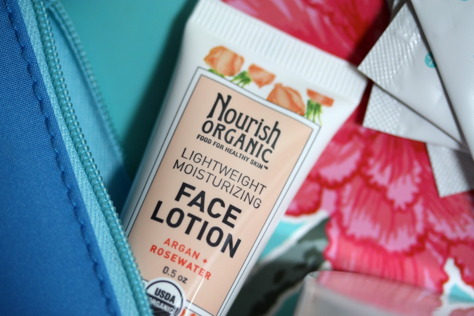 Ipsy Glam Bag January 2014 - First Impressions - Nourish Organic Lightweight Moisturizing Face Lotion with Argan + Rosewater | Manicurity.com