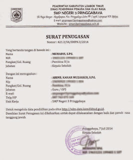 Contoh Surat Penugasan