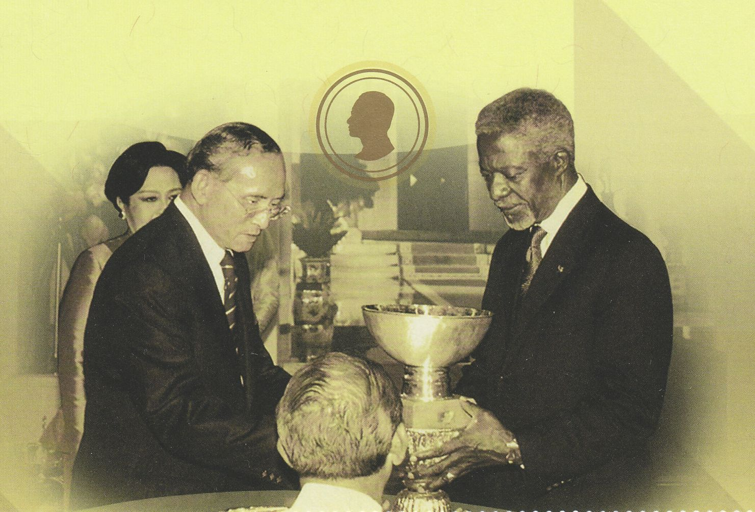 Le roi de Thaïlande et Kofi Annan, site web http://rainbowstampsandcoins.blogspot.com
