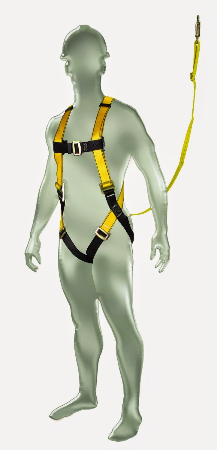 Scissor lift safety harness