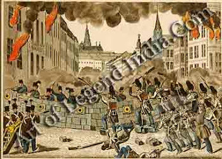 Storming the Barricades in Vienna 1848 was a year of tumult for Austria. On 13 March, the repressive chancellor Metternich was deposed after a battle between people and military. In May, barricades were erected when the government tried to deny the reforms earlier ceded. And the year ended with the abdication of the imbecile emperor, Ferdinand I.