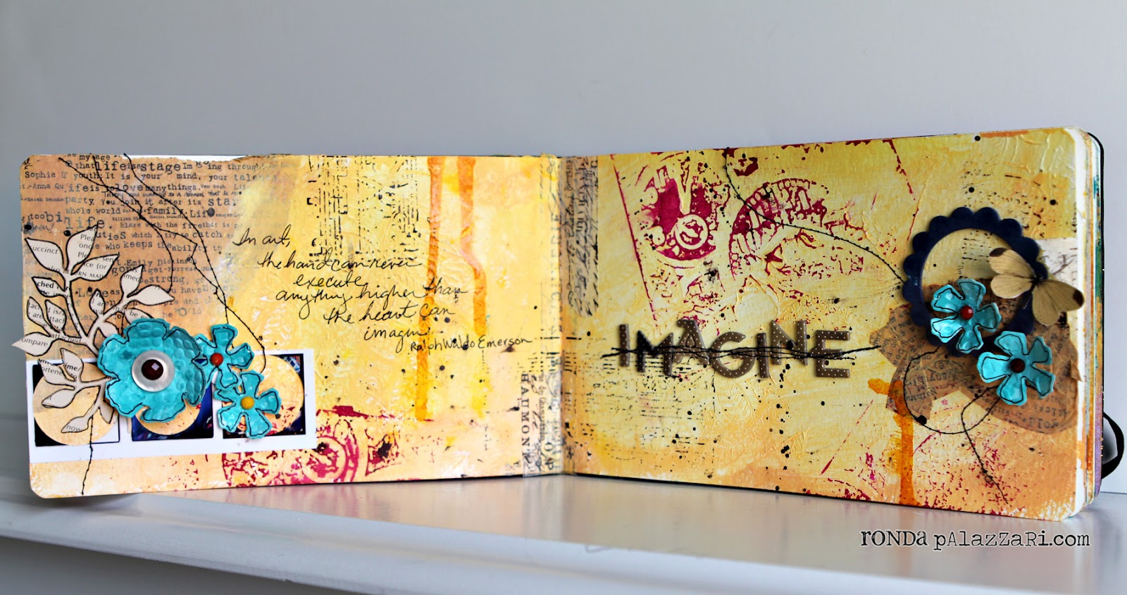 Imagine Art Journal Pages / Sizzix Blog - The Start of Something You®