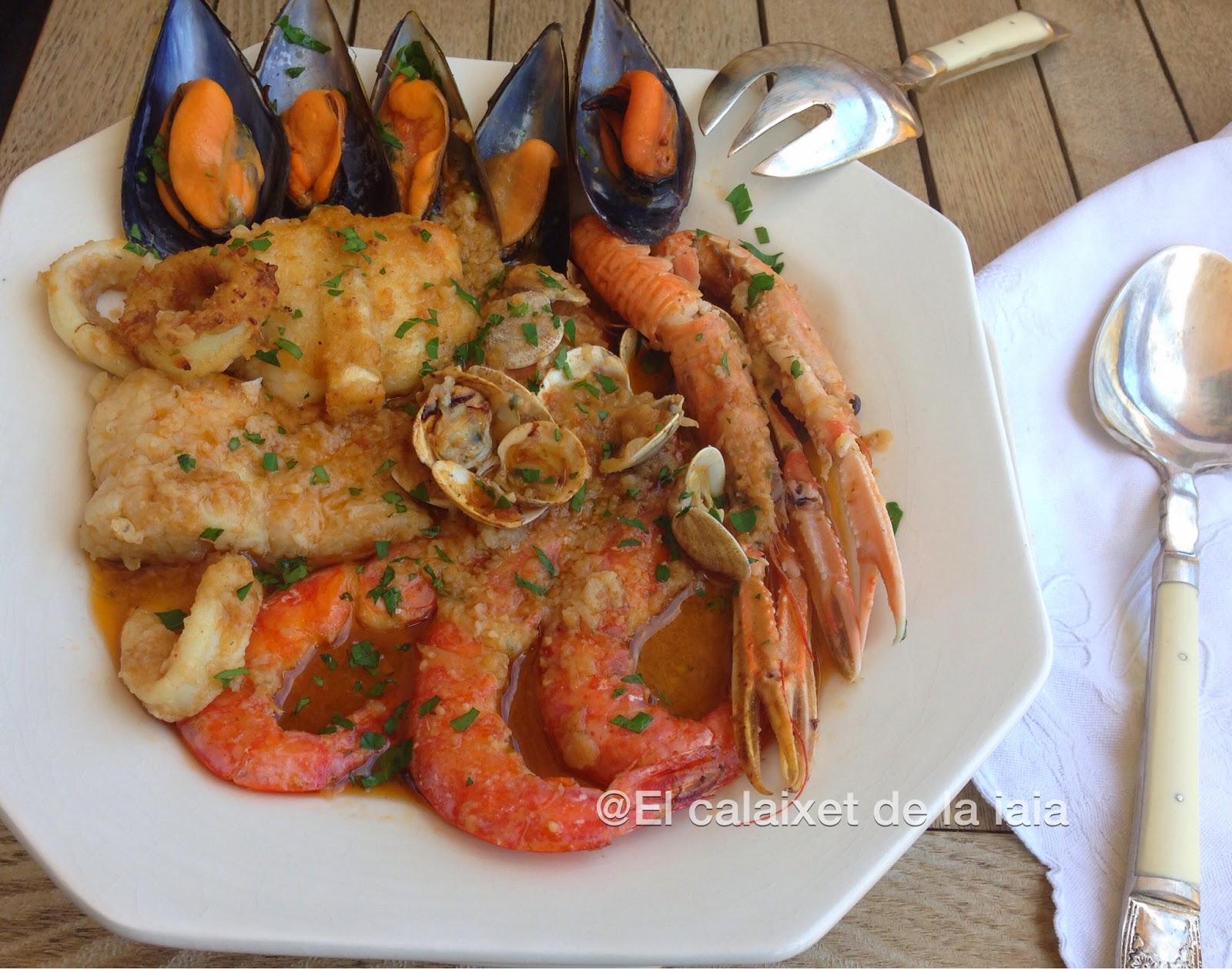 El calaixet de la iaia zarzuela o caldereta de marisco y for Cocinar zarzuela