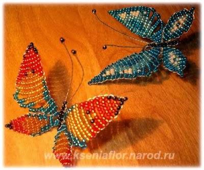 бабочка из бисера мастер-класс