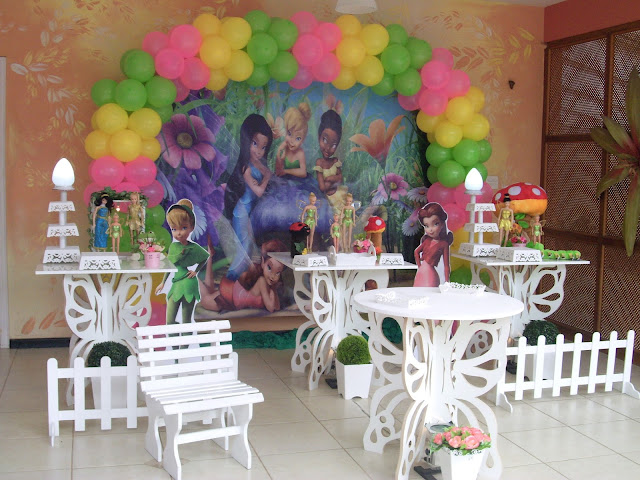 Decoração provençal de festa infantil - Tinker Bell