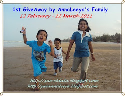 1st GiveAway by AnnaLeeya's Family