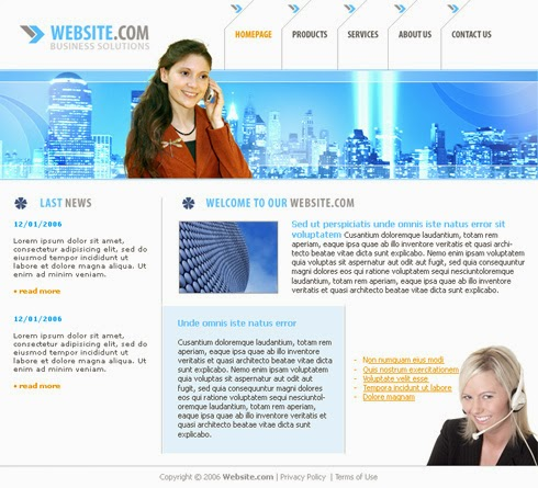 Free Download Good Looking Call Center Website Templates | Helpers ...