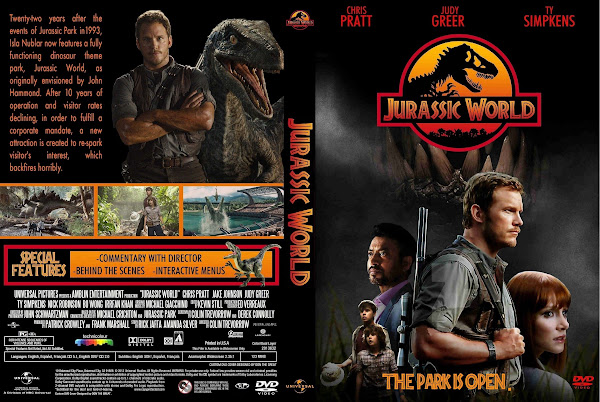 Capa DVD Jurassic World