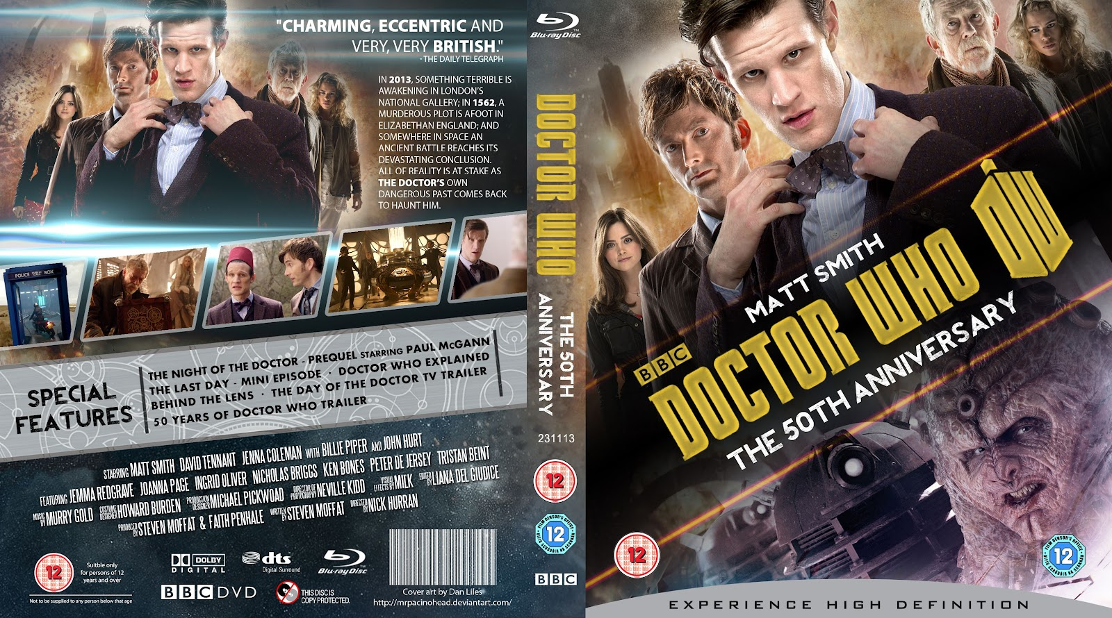 Capa Bluray Doctor Who The 50th Anniversary