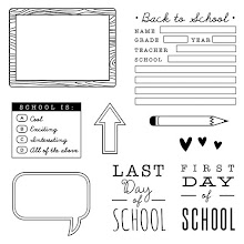 "August Stamp of the Month:  ""School Year"""