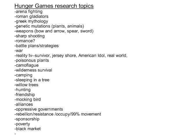 Research essay topics