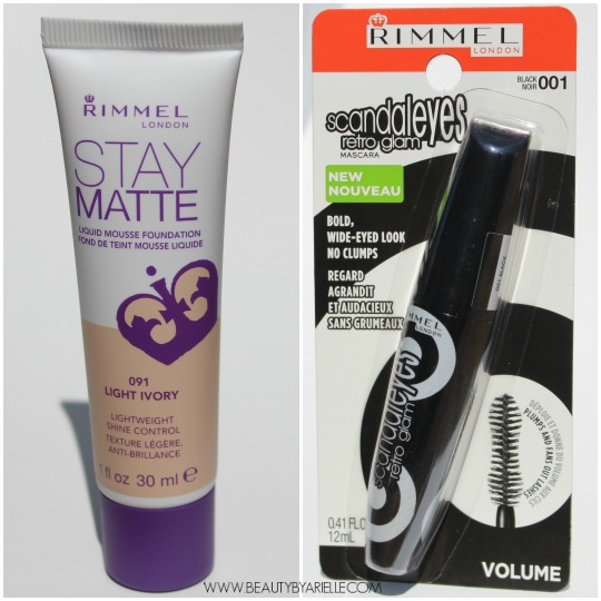 Rimmel Scandaleyes Retro Glam Mascara, Rimmel Stay Matte Foundation