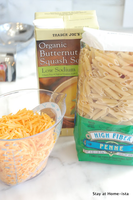 Ingredients for Butternut Squash Macaroni and Cheese