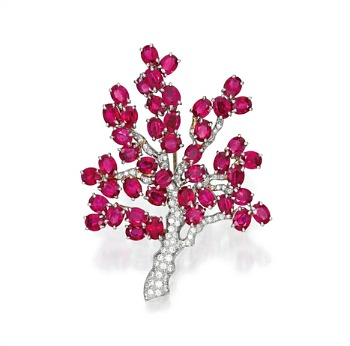 An Oscar Heyman & Brothers Cherry Blossom Brooch