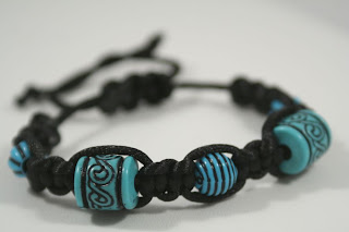 Shambhala bracelet (turquoise) for 7000 Bracelets Blog Hop :: All the Pretty Things