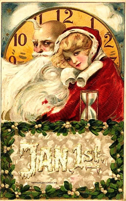 Father Time postcard from 1910