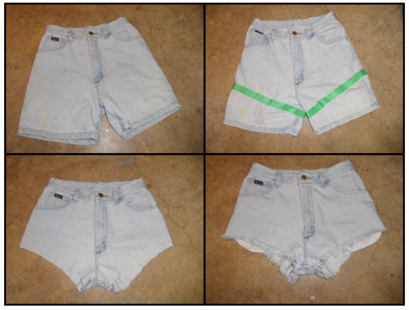 312style: I DIY FOR: Glow-In-The-Dark Aztec Cutoffs