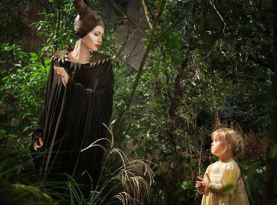Angelina Jolie reveals her daughter on Maleficent set