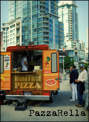 Street scene of food truck in Vancouver