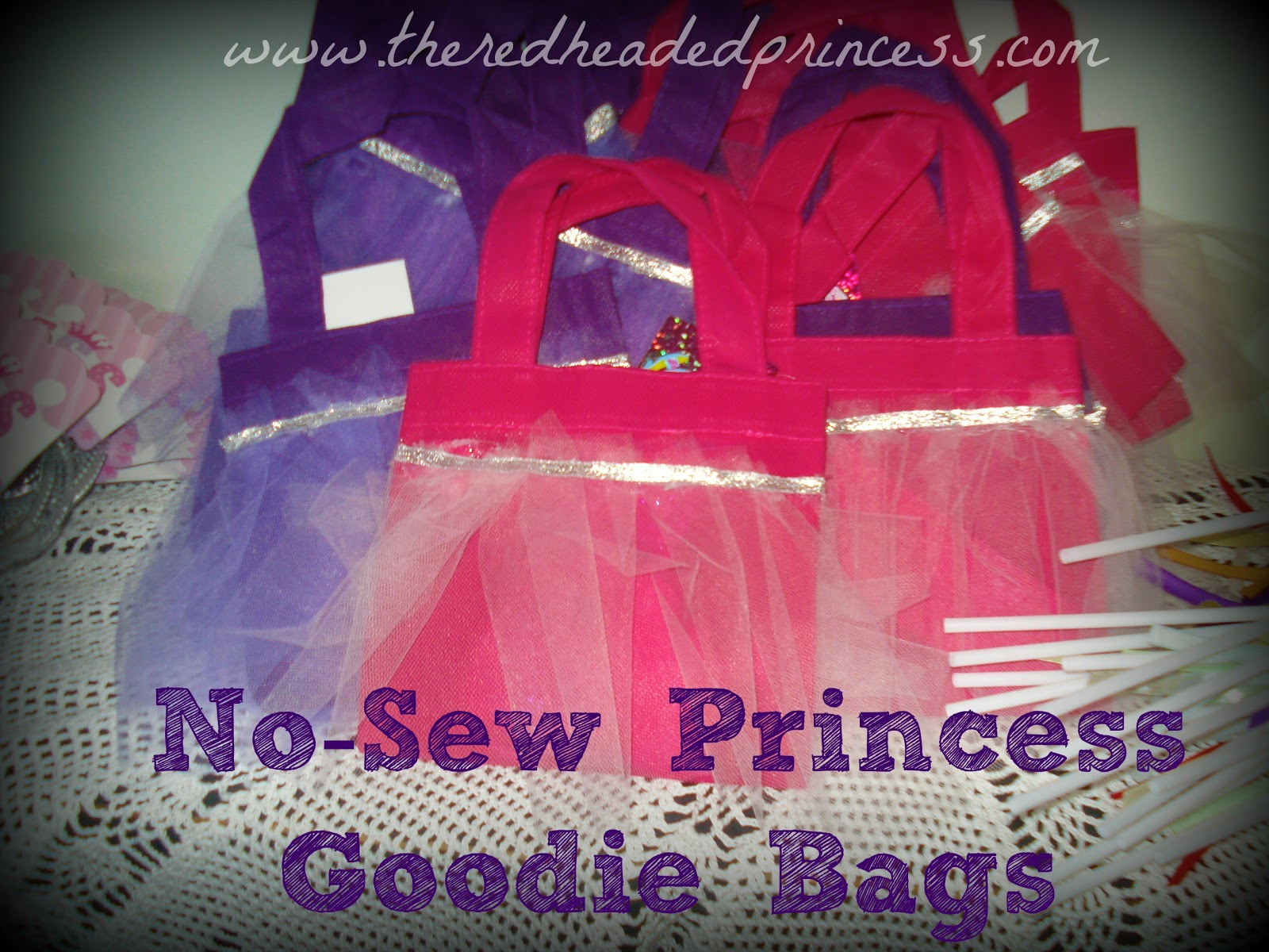No-Sew Princess Goodie Bags