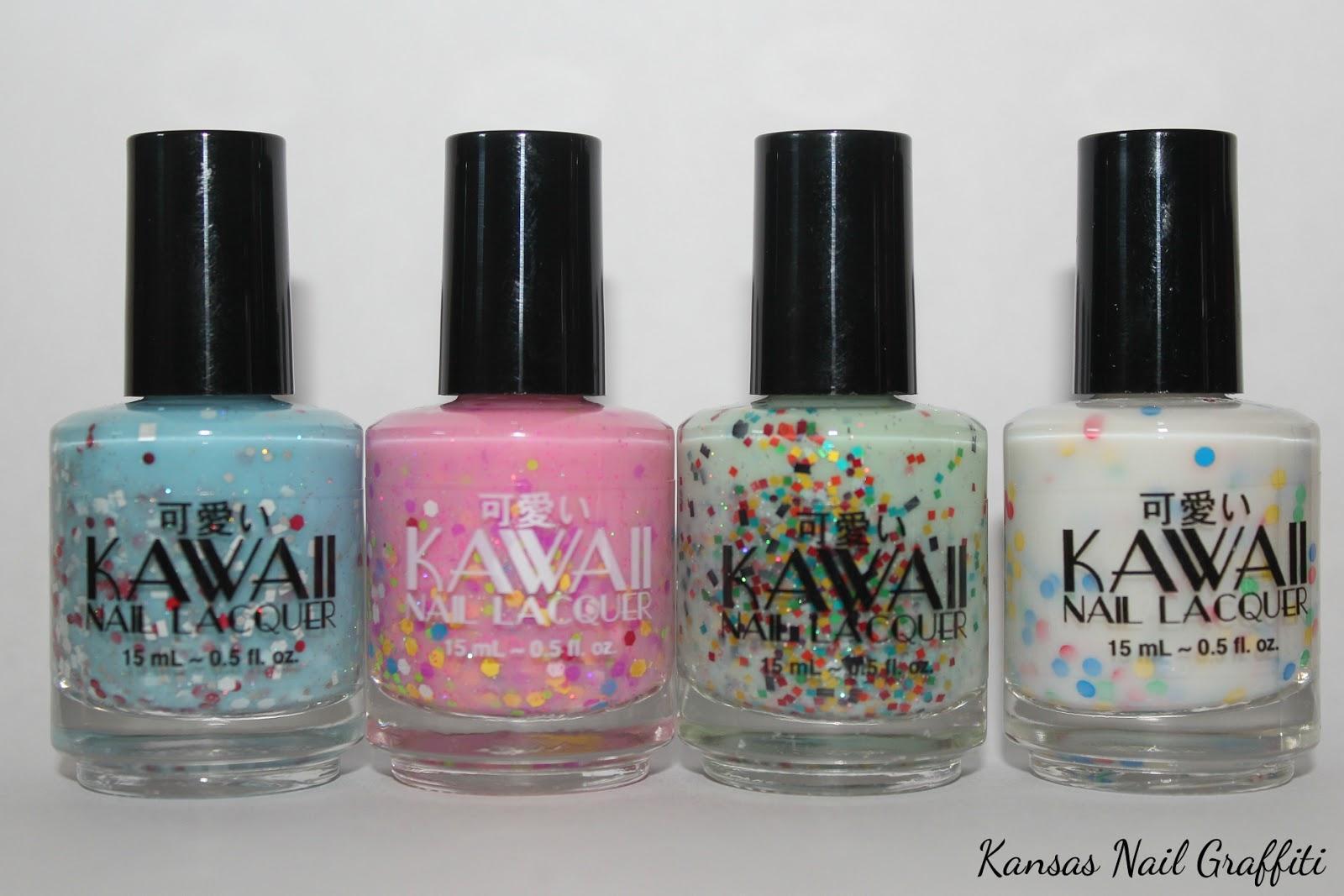 Makeup & Nail Graffiti: Kawaii Nail Lacquer Board Game collection