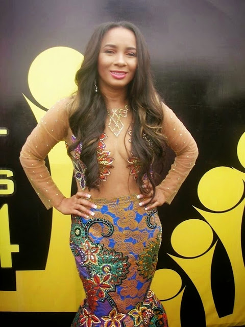 Ibinabo Fiberesima rocks sexy sheer outfit at the City People Awards2