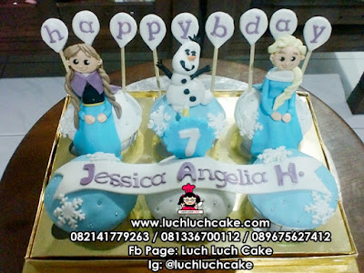 Birthday Cupcake Frozen Daerah Surabaya - Sidoarjo